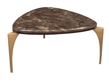 Triangular marble coffee table MANOLO COCKTAIL