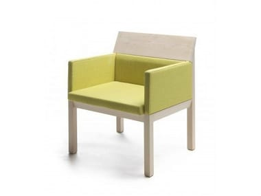Upholstered easy chair with armrests SEMINAR JRA2
