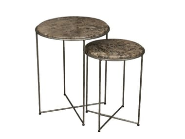 Round marble coffee table ETRA