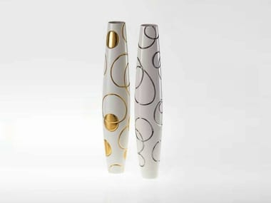 Porcelain vase ANTITHESIS GOLD AND PLATINUM | Vase
