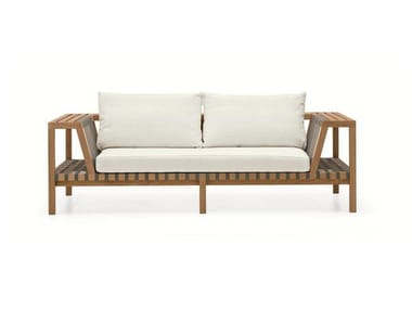 Sectional teak sofa NETWORK | Sofa