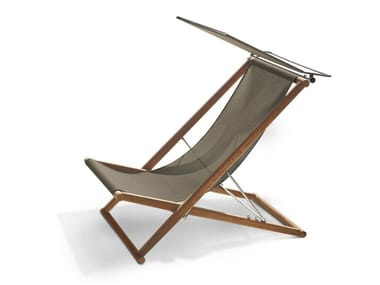 Folding teak deck chair ORSON | Deck chair