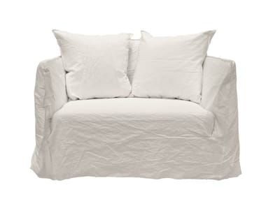 2 seater sofa with removable cover GHOST 09
