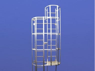 Fire escape staircase / Metal fire escape staircase Hooped ladder