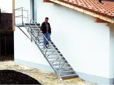 Outdoor extruded aluminium Open staircase Open staircase