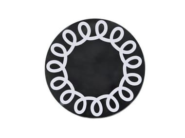 Wall-mounted round mirror BRICK 99