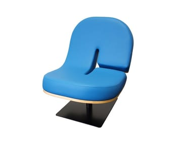 Upholstered leather easy chair TYPOGRAPHIA C | Leather easy chair