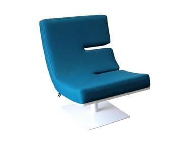 Upholstered easy chair TYPOGRAPHIA E