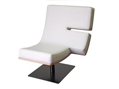 Upholstered easy chair TYPOGRAPHIA F