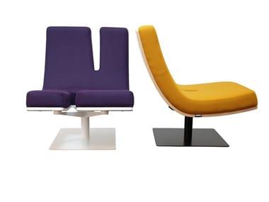 Upholstered easy chair TYPOGRAPHIA N