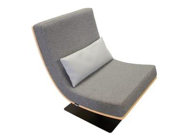 Upholstered fabric easy chair UNITA MEDIUM
