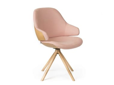 Trestle-based chair with armrests CIEL! SWEET   Chair with armrests