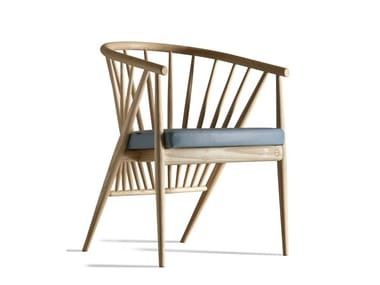 Ash easy chair with armrests GENNY | Easy chair