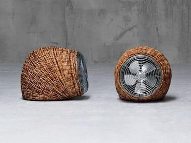 Ventilador de mesa de rattan pulut WIND S