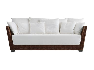 3 seater sofa in handwoven black pulut BLACK 03