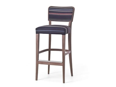High fabric stool with back WIENER 06