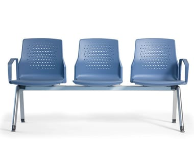 Beam seating with armrests UKA | Beam seating