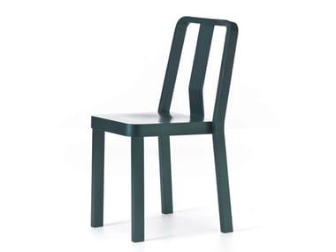 Wooden restaurant chair RIO