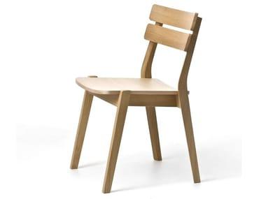 Stackable open back oak chair FRAME 11L / FRAME OUT 11L