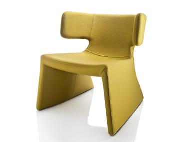 Fabric armchair with armrests MEG | Fabric armchair