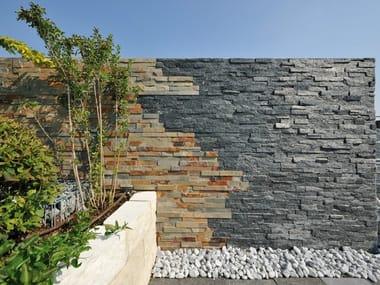 Outdoor slate wall tiles ARDESIA NERA | Wall tiles