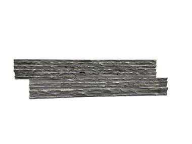 Outdoor slate wall tiles ARDESIA NERA FINE