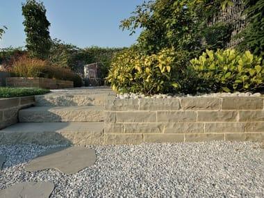 Natural stone load-bearing block AUTUMN GREY   Blocchetto per muretti