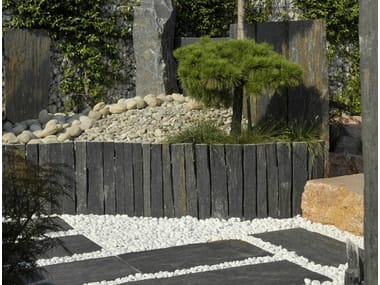 Modular natural stone Fence Natural stone Fence