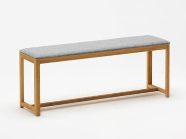 Upholstered beech bench SELERI | Upholstered bench