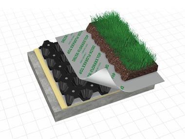 Honeycombed and textured membrane DELTA®-FLORAXX TOP e DELTA®-FLORAXX