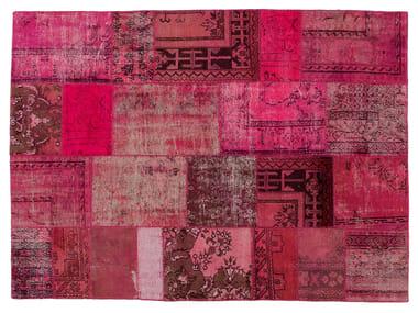 Vintage style patchwork rug PATCHWORK PINK
