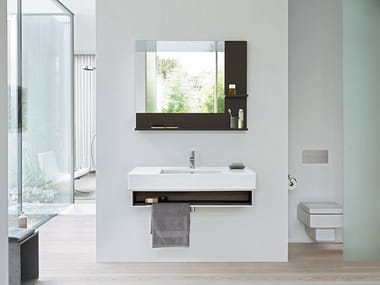 Wall-mounted vanity unit VERO | Single vanity unit