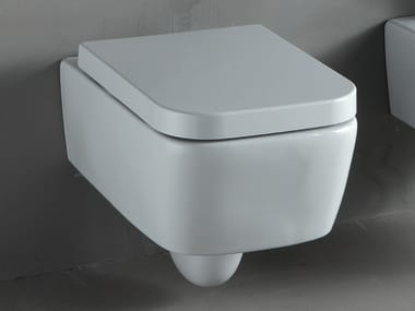 Wall-hung white-paste toilet THIN | Wall-hung toilet