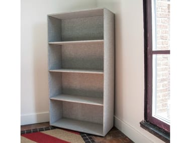 Open fabric bookcase BuzziBass Trap