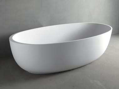 Freestanding oval Mineralmarmo® bathtub ROUND