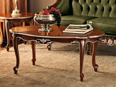 Oval solid wood coffee table 11612 | Coffee table