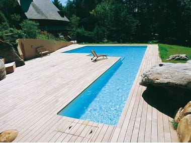 In-Ground Swimming pool DESJOYAUX | L-Shaped Swimming Pool