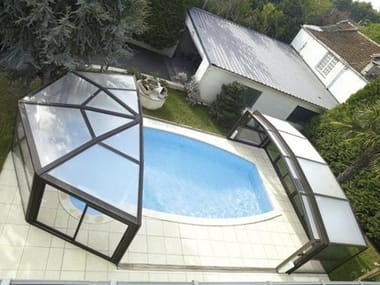High telescopic Swimming pool cover DESJOYAUX | High Swimming pool cover