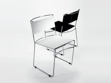Stackable fabric chair DELFINA