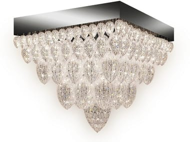 Steel ceiling light with crystals ARABESQUE TUTANKHAMON