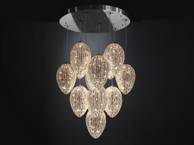 Pendant lamp with crystals ARABESQUE EGG | Crystal pendant lamp