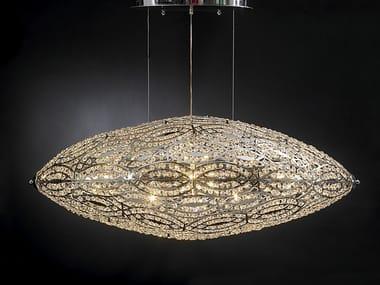 Pendant lamp with crystals ARABESQUE AIRSHIP | Pendant lamp