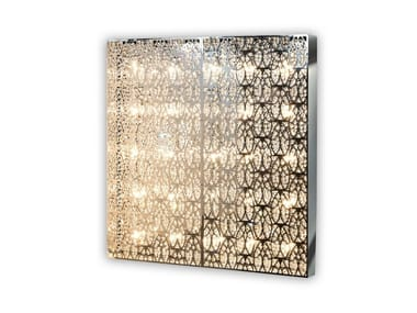 Wall light with crystals DOMINO SQUARE
