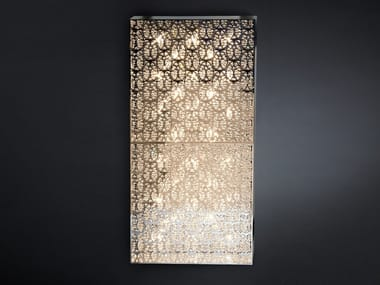 Wall light with crystals DOMINO RECTANGULAR