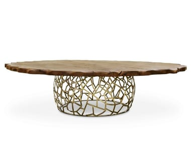 Round wooden table APIS II MODERN DINING TABLE