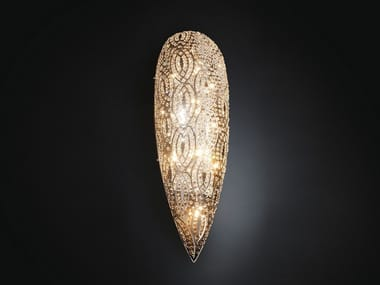 Wall light with crystals ARABESQUE DROP