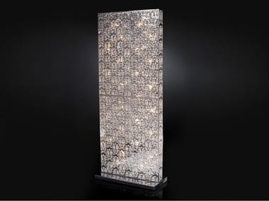 Floor lamp with crystals ARABESQUE RECTANGULAR SEPARE'