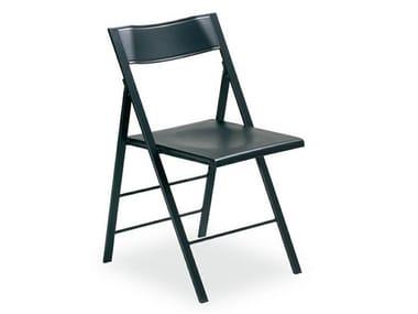 Sedia pieghevole con poggiapiedi POCKET COLOURED PLASTIC