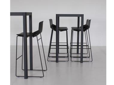 Square HPL table LA TABLE 60X60 | Square table