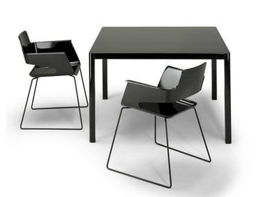 Square HPL table LA TABLE 80X80 | Square table